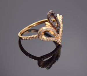 "22k Solid Gold ELEGANT Stone Ring BAND Crown Design ""RESIZABLE"" R84"