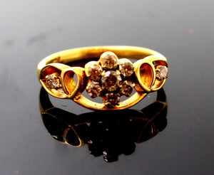 "22k 22ct Solid Gold BEAUTIFUL Elegant Ladies Ring SIZE 7.5 ""RESIZABLE"" r1224"