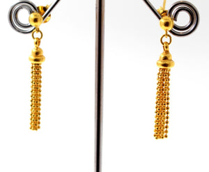 22k 22ct Solid Gold ELEGANT SMALL DANGLING Earrings e5874
