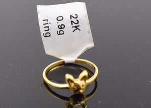 "22k 22ct Solid Gold ELEGANT BABY KIDS Ring ""RESIZABLE"" size 2.5 405 