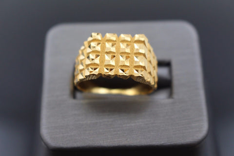"22k 22ct Solid Gold ELEGANT Charm Mens Ring SIZE 9.5 ""RESIZABLE"" smf"