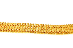 22k 22ct Solid Gold ELEGANT MEN DESIGNER WIDER BROAD BRACELET B875 | Royal Dubai Jewellers