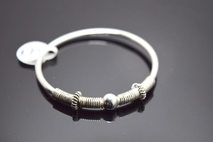 1PC HANDMADE Baby Solid Silver Bracelet 925 sb31 Sterling Children Bangle Cuff