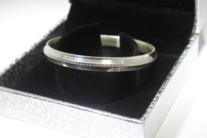 1PC HANDMADE Men b5 Solid Sterling Silver 925 size 2.75 inch kara Bangle Cuff