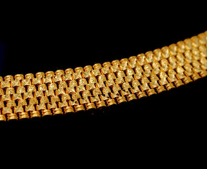 22k 22ct Solid Gold ELEGANT MEN DESIGNER WIDER BROAD BRACELET B875