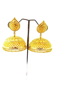 22k 22ct Jewelry Solid Gold JHUMKIE LONG JHUMKE DANGLING JHUMKA Earring E5890 | Royal Dubai Jewellers