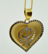 22k Solid Gold Sikh Religious pendant charm locket Modern Design p238 | Royal Dubai Jewellers