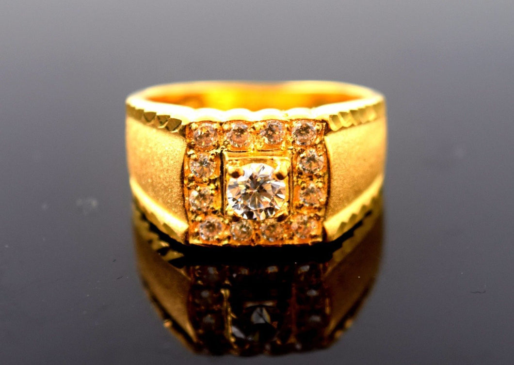 22k Solid Gold ELEGANT MENS Ring Exquisite Design