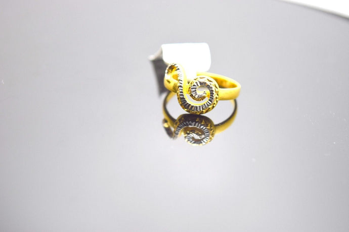 22k Solid Gold ELEGANT Ring BAND TWO TONE