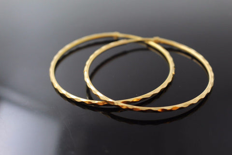 22k 22ct Solid Gold ELEGANT Extra Large Hoops Earring Modern Design e5120