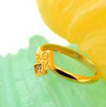 "22k 22ct Solid Gold CUTE DESIGN ZIRCONIA BABY KID Ring ""RESIZABLE"" size 4.2 r737 - Royal Dubai Jewellers"