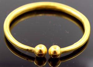 """CHOOSE YOUR SIZE"" 22k 22ct Solid Gold BABY BANGLE BRACELET Kara Children cb30 - Royal Dubai Jewellers"