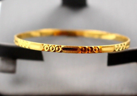 22k 22ct Jewelry Solid Gold THIN round designer BABY CHILDREN bangle cb1102