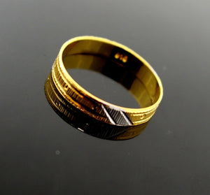 "22k 22ct Solid Gold Ladies Ring Two Tone Design SIZE 9 ""RESIZABLE"" R1330"