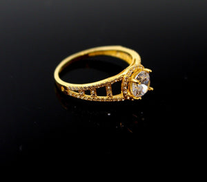 "22k 22ct Solid Gold DIAMOND CUT LADIES RING SIZE 7.0' RESIZABLE"" R1642 