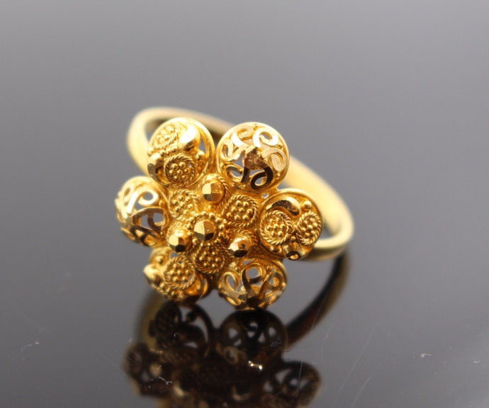 22k 22ct Solid Gold ELEGANT Charm LADIES Ring SIZE 7