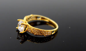 "22k 22ct Solid Gold DIAMOND CUT LADIES RING SIZE 6.0' RESIZABLE"" R1637"