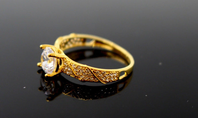 22k 22ct Solid Gold DIAMOND CUT LADIES RING SIZE 6.0' RESIZABLE