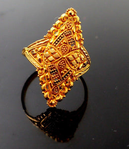 "22k 22ct Solid Gold BEAUTIFUL Elegant Ladies Ring SIZE 7 ""RESIZABLE"" r1223 - Royal Dubai Jewellers"