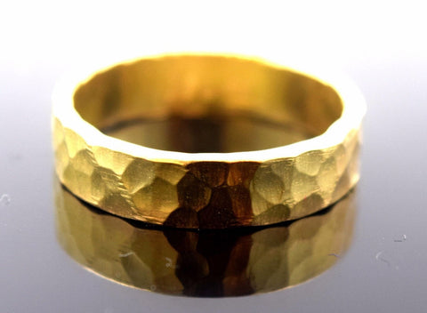 "22k Jewelry Solid Gold ELEGANT Ring Band Exquisite Design ""Non RESIZABLE"" R610"