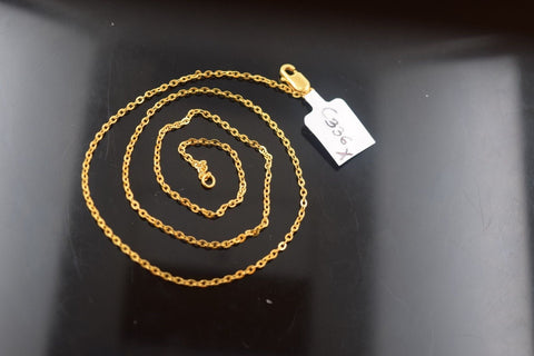 22k Jewelry Yellow Solid Gold Chain Necklace Elegant Modern Rope Design c336