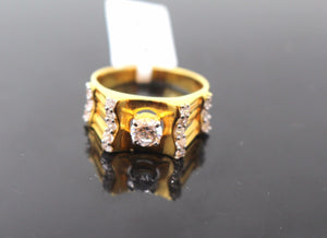 "22k 22ct Solid Gold ELEGANT Ladies Ring SIZE 8.5 ""RESIZABLE"" R79 