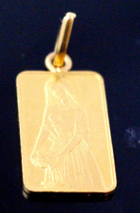 22k 22Ct Solid Gold ELEGANT WOMEN FIGURE BRICK PENDENT P1340