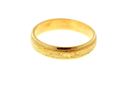 "22k 22ct Solid Gold Elegant Mens Ring Band Design Size 12 ""RESIZABLE"" R1216"