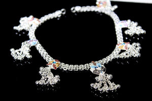 2PC HANDMADE Solid Silver Payal 925 sbb23 Sterling adult ladies Anklets | Royal Dubai Jewellers
