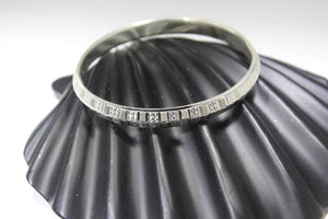 1PC HANDMADE Men b29 Solid Sterling Silver 925 size 2.75 inch kara Bangle Cuff