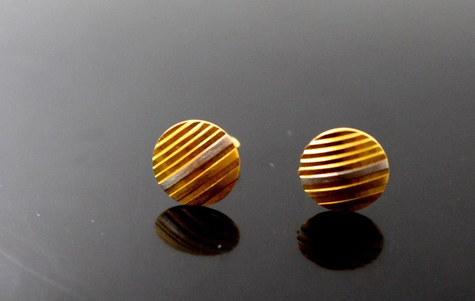 22k 22ct Solid Gold CUTE BABY TINY SPHERE GOLD EARRINGS STUDS e5329