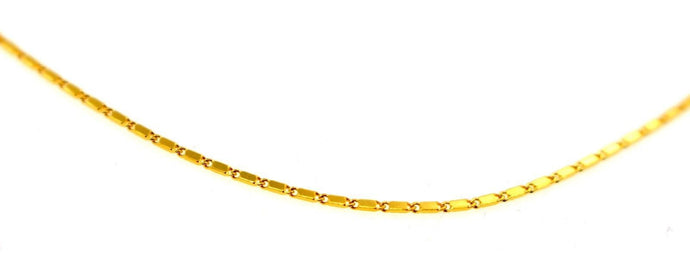 22k 22ct Yellow Solid Gold GORGEOUS THIN LINK CHAIN NECKLACE c917