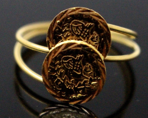 21Karat 21ct GORGEOUS SOLID GOLD GINNI COIN STYLE RING band R1571