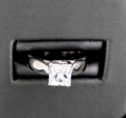 "14k 14ct Solid Gold BEAUTIFUL BIG Solitaire Ring SIZE 4.5 ""RESIZABLE"" r1268"