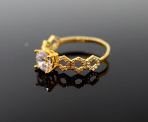 "22k 22ct Solid Gold DIAMOND CUT LADIES RING SIZE 7.0' RESIZABLE"" R1620"