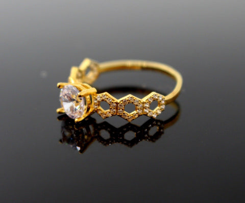 "22k 22ct Solid Gold DIAMOND CUT LADIES RING SIZE 7.0' RESIZABLE"" R1620 