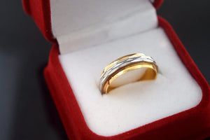 "22k 22ct Solid Gold RHODIUM LASER CUT UNISEX Ring BAND ""RESIZABLE"" size 8.2 r790 