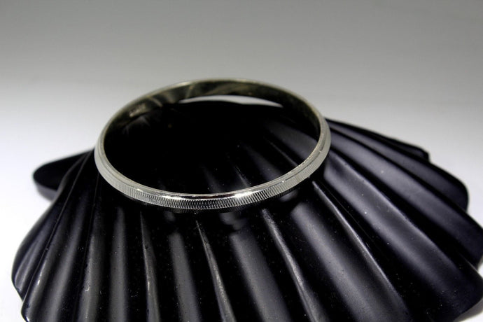 1PC HANDMADE Men b33 Solid Sterling Silver 925 size 2.50 inch kara Bangle Cuff