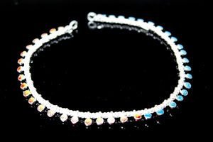 2PC HANDMADE Solid Silver Payal 925 sbb7 Sterling adult ladies Anklets | Royal Dubai Jewellers