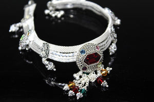 2PC HANDMADE Solid Silver Payal 925 sbb5 Sterling adult ladies Anklets | Royal Dubai Jewellers