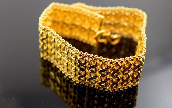 22k Solid Gold Fancy Lavish Bracelet 7