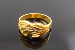 "22k Solid Gold ELEGANT Ring BAND Antique Design ""RESIZABLE"" R394"