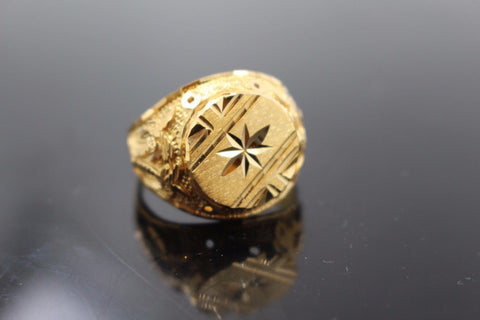 "22k 22ct Solid Gold ELEGANT Charm Mens Ring SIZE 10 ""RESIZABLE"" r1062"