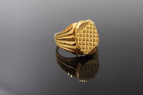 "22k 22ct Solid Gold ELEGANT Charm Mens Ring SIZE 10.0 ""RESIZABLE"" r1047"