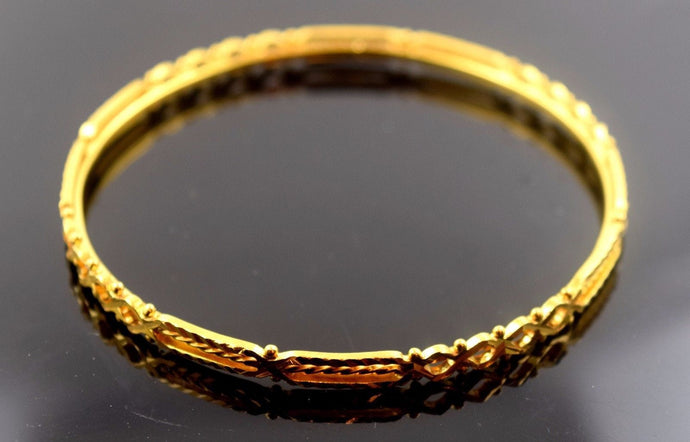 22k Solid Gold ELEGANT WOMEN BANGLE BRACELET Size 2.5 inch B307