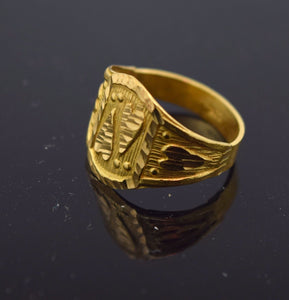 22k 22ct Solid Gold ELEGANT BABY KIDS Ring ek ong kar kanda sikh R245 MF | Royal Dubai Jewellers