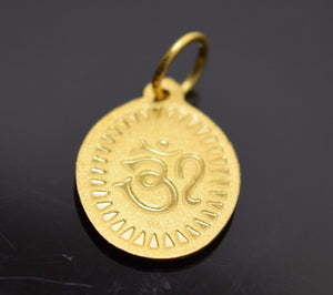 22k 22ct Solid Gold Lord Krishna krishan gopal OM OHM pendant locket charm P187 | Royal Dubai Jewellers