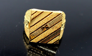 "22k 22ct Solid Gold EXQUISITE SQUARE SHAPE MEN Ring ""RESIZABLE"" size11.0 R1611"