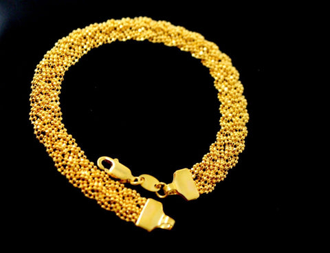 22k Gold ELEGANT TANGLED DESIGN LADIES BRACELET B886