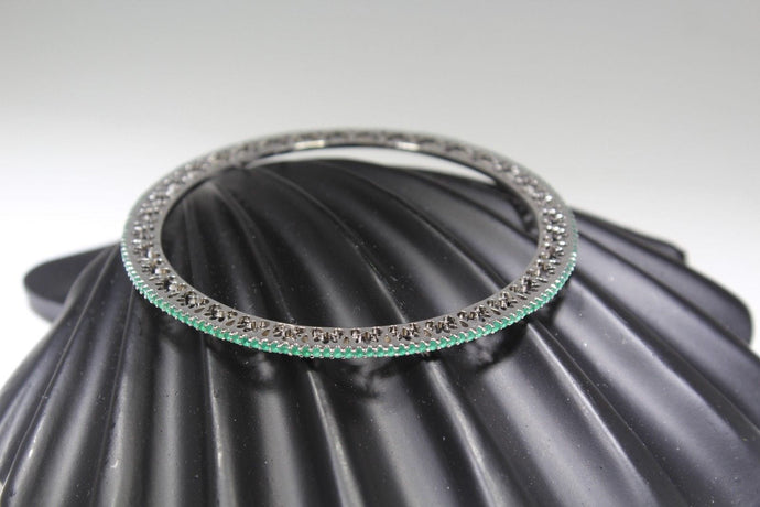 1PC HANDMADE women b97 Solid Sterling Silver 925 size 2.5 inch kara Bangle Cuff